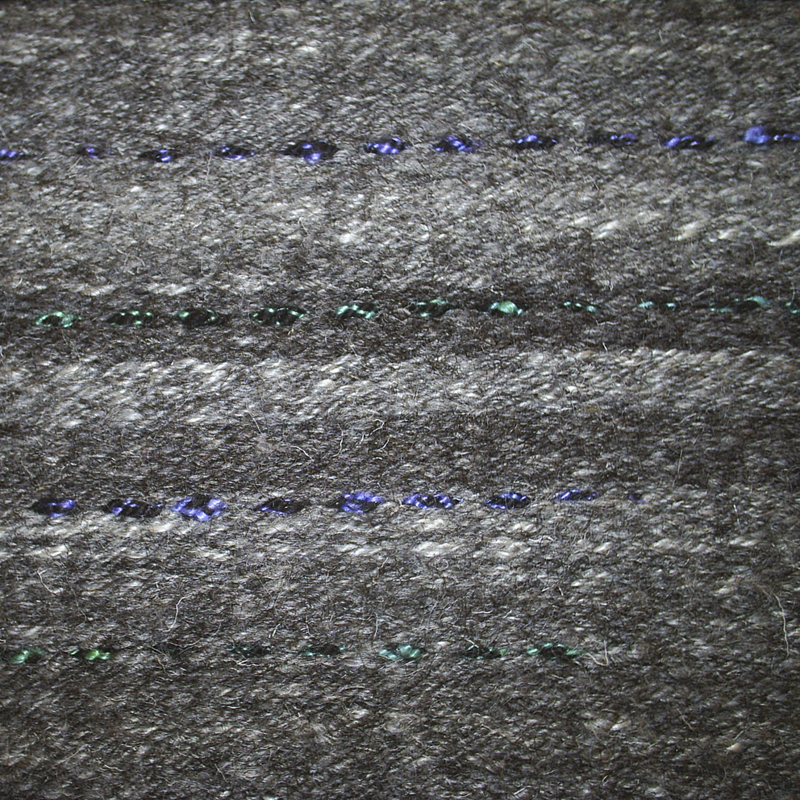 Rug with coloured silk highlights emulating Starling plumage