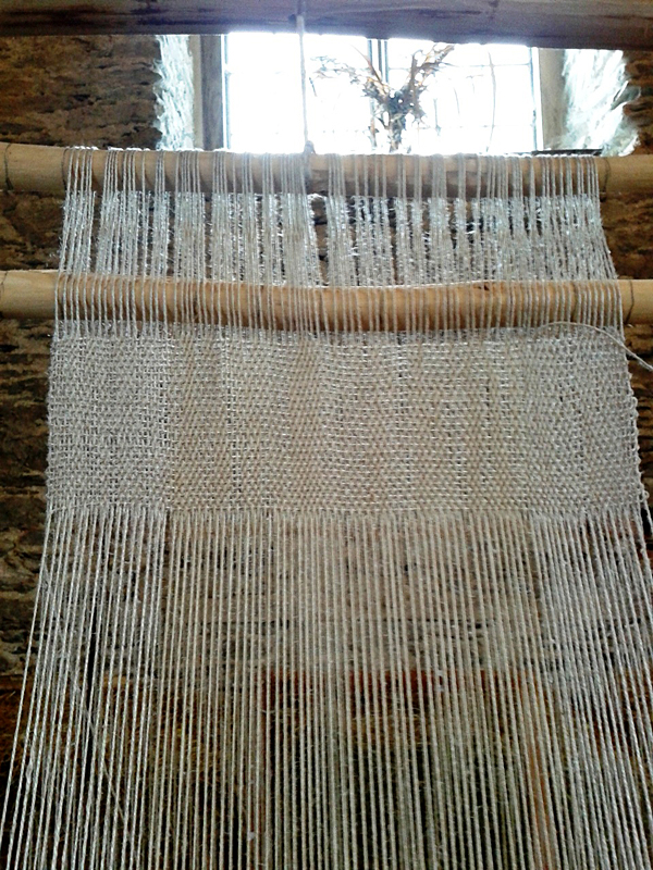 Linen on the loom
