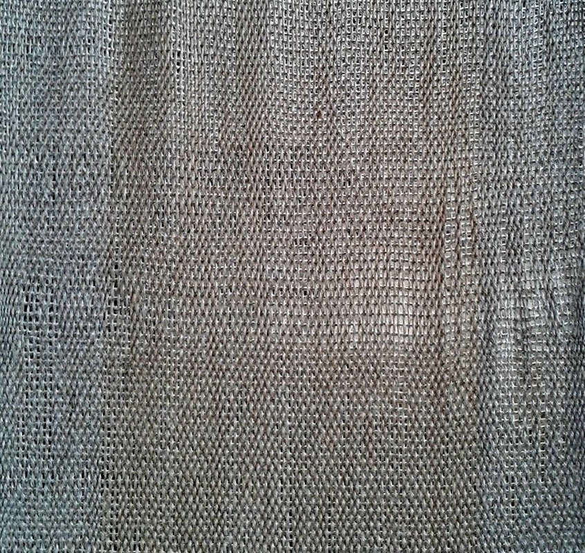 Completed linen fabric (detail)